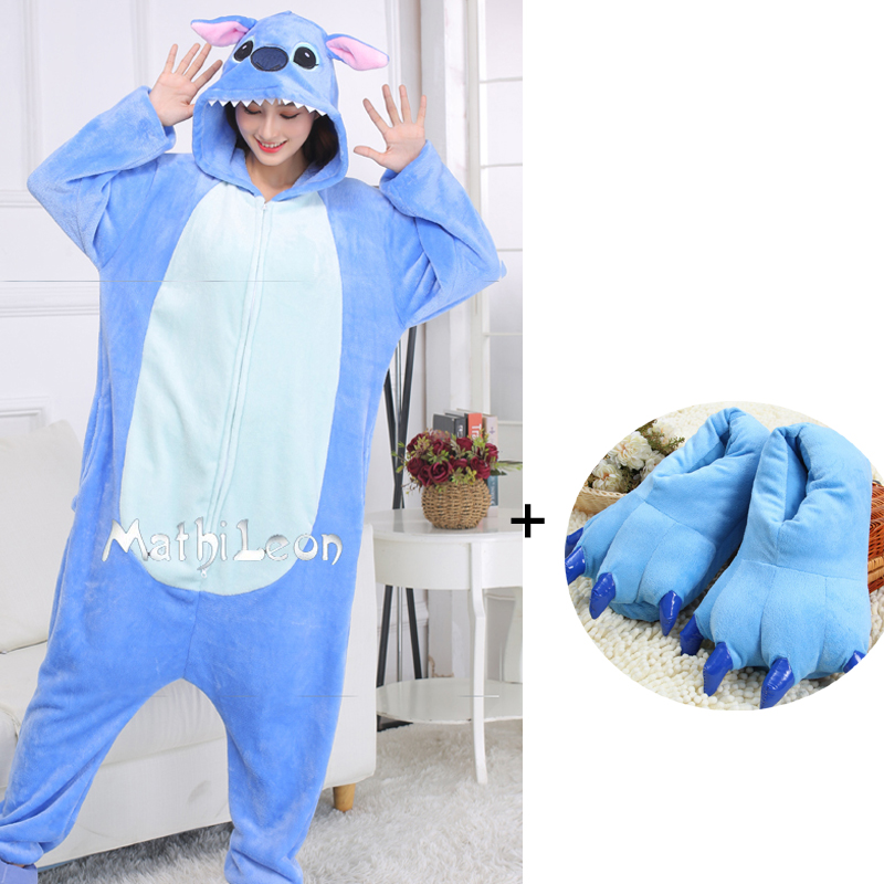 Stitch Onesies XXL Suit 180-210Cm Cartoon Onesie For Adults Women Men Zippers Animal Pajamas One-Piece Pijamas Cosplay Costume