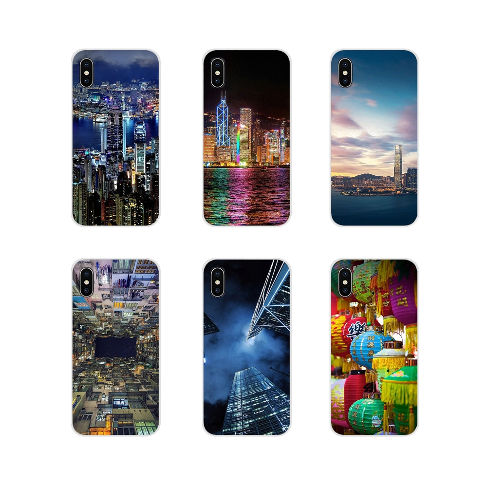 Accessories Case Cover Hong Kong Sunset Skyscraper City <font><b>Bay</b></font> For Xiaomi Redmi 4A S2 Note <font><b>3</b></font> 3S 4 4X <font><b>5</b></font> Plus 6 7 6A Pro Pocophone F1 image