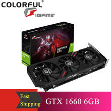 Ultra-Video-Card GDDR5 Gaming Colorful Igame 192bit Geforce Gtx 1660 DP 6G DVI HD PC