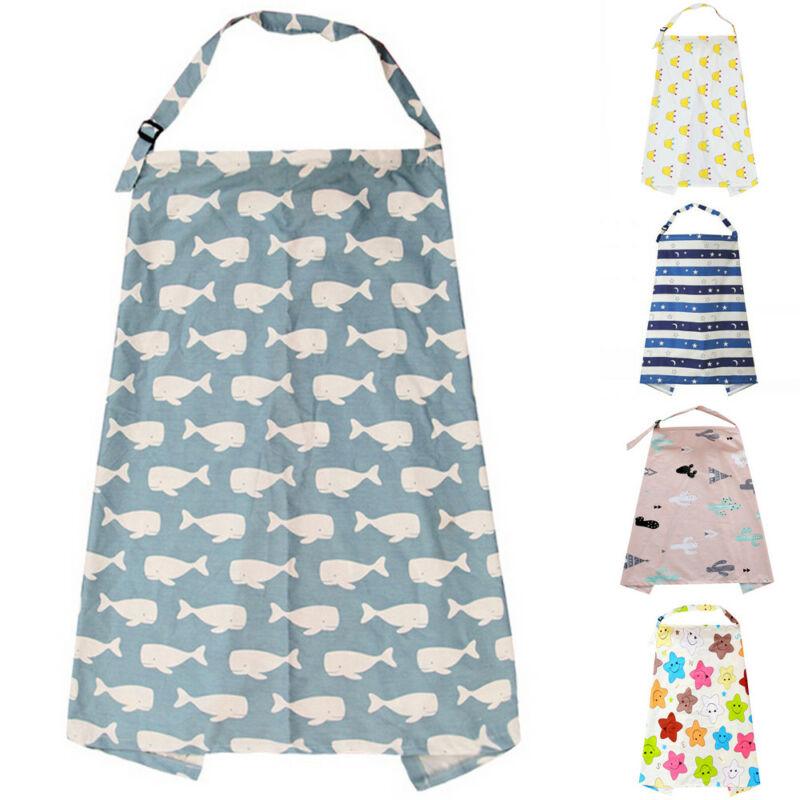 Mum Breastfeeding Nursing Cover Up Baby/Infant Shawl Cotton Blanket Fashion
