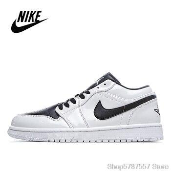 NIke Air Jordan 1 Low black and white panda low-top men and women basketball shoes size 36-45 553558-103