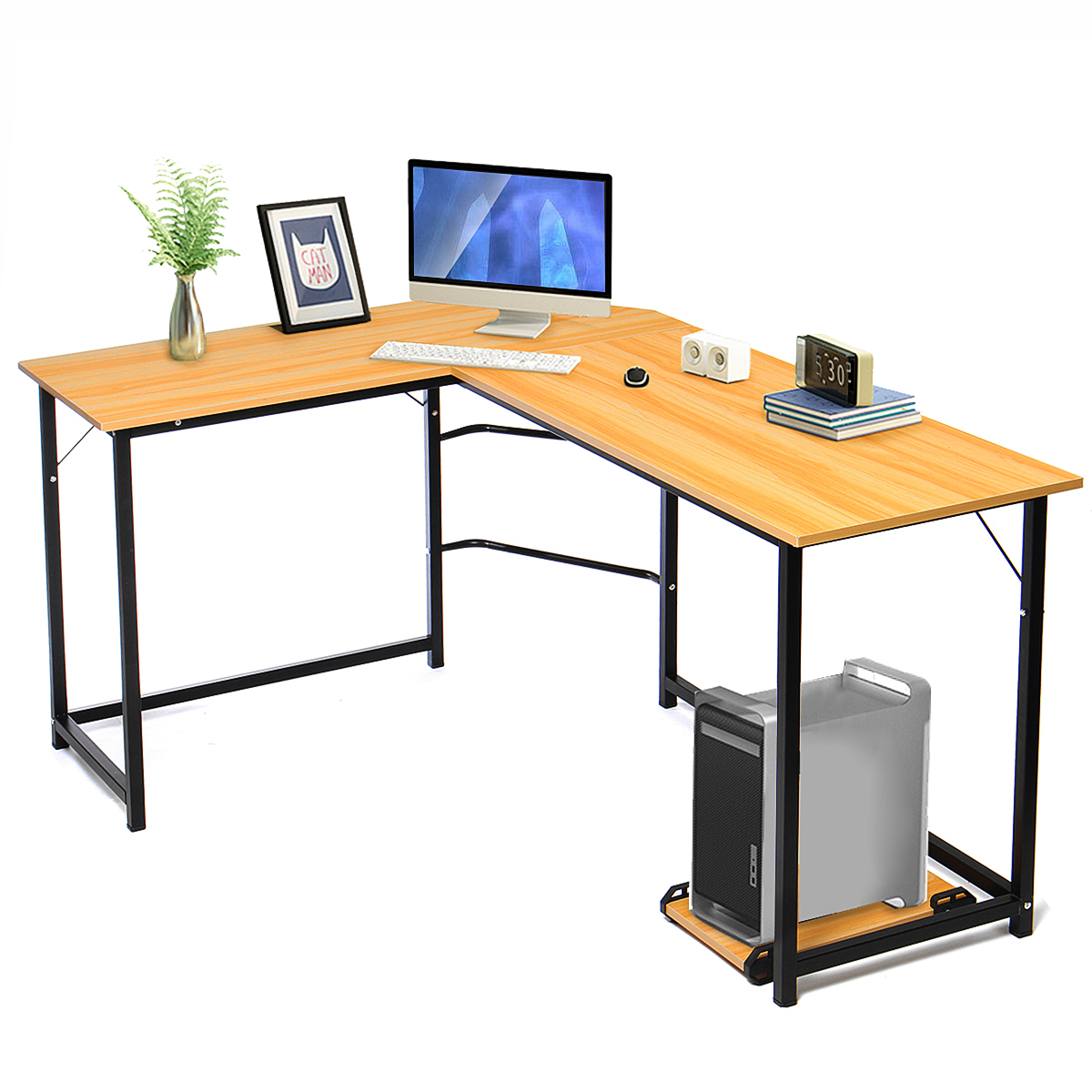Wooden Office Computer Writing Desk Home Gaming PC Furnitur L-Shape Corner Study Computer Table Laptop Desk Laptop Table