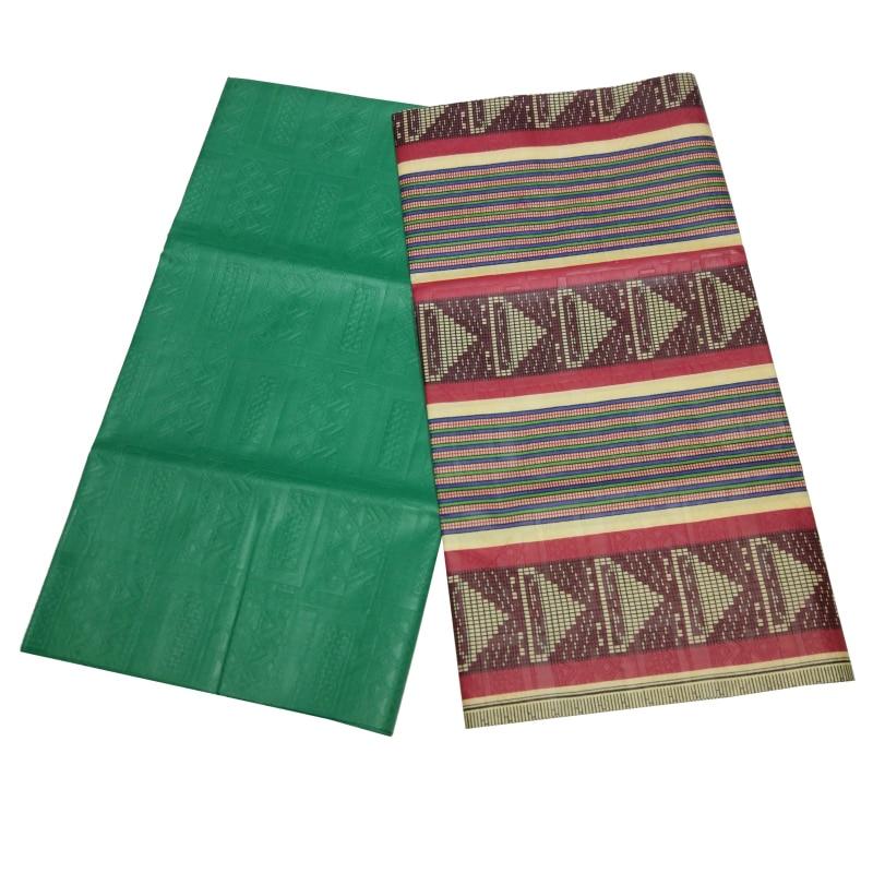 2019 Embossing Of Tie-Dye Cloth High Quality Veritable Wax Print Fabric 2+2Yards African Pagne Wax Ankara DIY Fabric