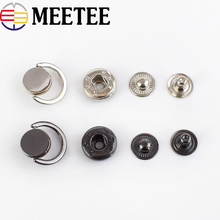 купить 10Sets Fashion Snap Fasteners Metal Snap Buttons For Coat Press Studs Decorative Botones DIY Leather Craft Sewing Accessories дешево