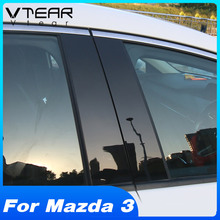 Vtear For Mazda 3 Axela BP 2020 Car Window BC Column Sticker Trim Mirror Reflection Panel Exterior Modification Accessories