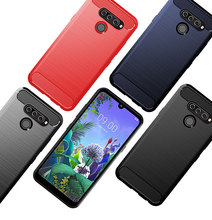 Carbon Fiber Soft Silicone Bumper Case For LG Q60 K50 Brushed Cover for Stylo 5 6.26 Phone Capa