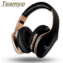 Teamyo Wireless Headset Bluetooth Headphones Foldable Stereo Headphone Gaming Earphones With Microphone For PC Mobile phone Mp3 цена