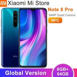 Versão global xiaomi redmi nota 8 pro 6gb 64gb telefone móvel 6.53