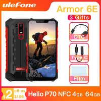 Ulefone Armatura 6E Impermeabile IP68 NFC Robusto Telefono Cellulare Helio P70 Otca-core Android 9.0 4GB + 64GB di carica wireless Smartphone