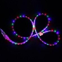 AC 220 В Водонепроницаемая светодиодная лента RGB свет+ 8 режимов контроллер Led гибкая строка Феи огней Рождественское украшение ленточная лента