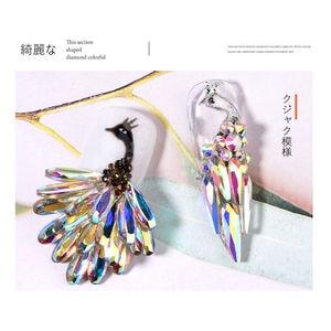 100 pcs/pack Nail Art Rhinestones Crystal AB Long Teardrop Shaped Glass Stons For 3D Nails Decoration(China)