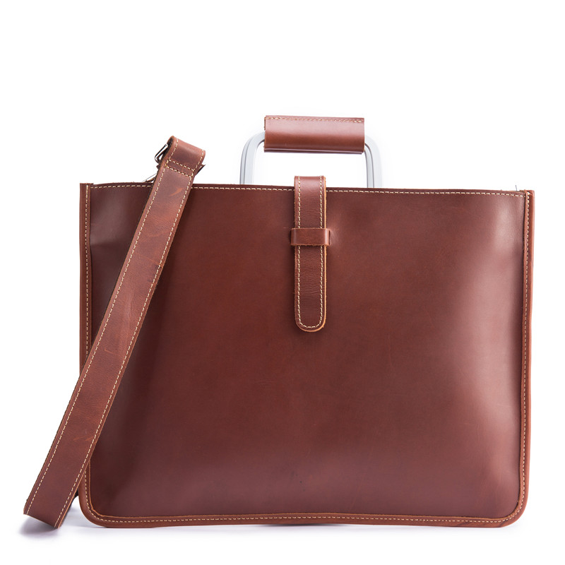 2020 Business Women's Briefcase Leather Handbag Men Totes 13 Inch Laptop Ipad Bag Shoulder Office Bags Female Male Briefcases