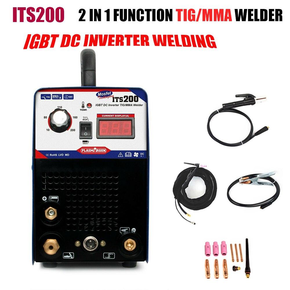 ITS200 Inverter TIG/MMA ARC 2in1 Schweißen Maschine 200A TIG Schweißer Maschine 110/220V
