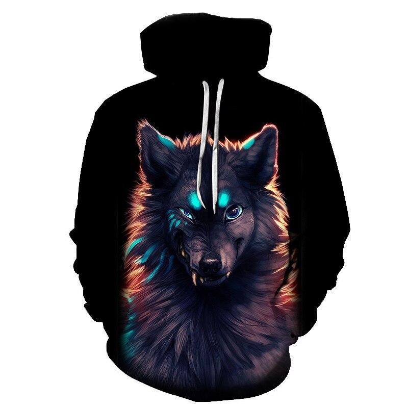 Wolf Printed Women 3d Hoodies Brand Sweatshirts Girl Boy Jackets Pullover Fashion Tracksuits Animal Streetwear Lovers Sweatshirt 67