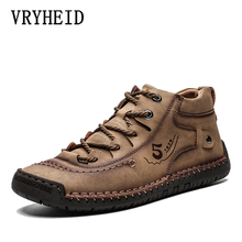 Buy VRYHEID 2019 Hot Men Shoes Warm Fur Winter Men Boots Autumn Leather Shoes For Man New High Top casual Shoes Men Plus Size 39-48 directly from merchant!