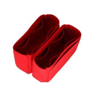 Image 3 - Se adapta a Neo noe, bolsas de inserción, organizador de maquillaje, organizador abierto, monedero interior de viaje, moldeador de base de cosméticos portátil para neo noe