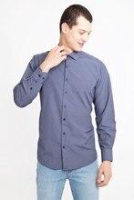 Kigili camisas de hombre azul marino de manga larga camisa a cuadros botón abajo de alta calidad clásico ajuste extendido cuello hecho en Turquía