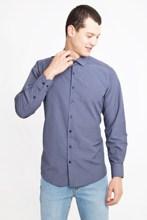 Kigili shirts menswear 네이비 블루 긴 소매 격자 무늬 버튼 다운 셔츠 고품질 클래식 맞는 확산 칼라 터키에서 만든