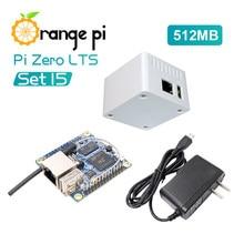 Orange Pi Zero LTS 512MB + fuente de alimentación OTG + funda blanca, H2 + Quad Core Open-Source Single Board