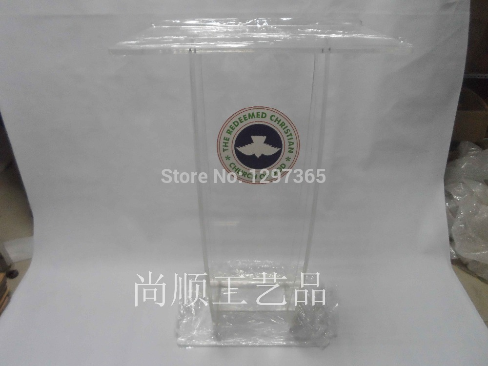 Free Shipping High Quality Price Reasonable Creative Acrylic Church Lectern Podium Plexiglass