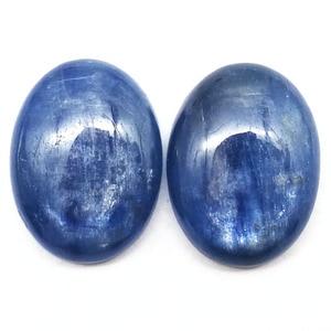 Image 2 - 5 ピース/ロットトップ品質ナチュラルカイヤナイト 15*20*5 ミリメートルオーバル宝石の石カボション藍晶石ビーズ CAB リング顔ジュエリー Maing