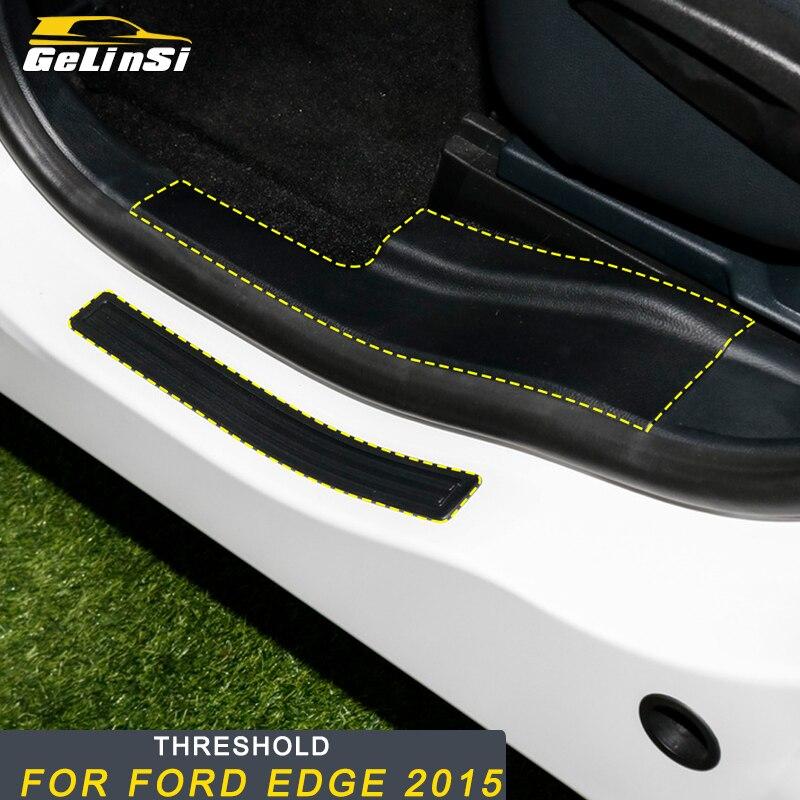 Gelinsi pour Ford Edge 2015 voiture style seuil de porte seuil seuil de seuil plaque de protection bienvenue pédale autocollants accessoires extérieurs