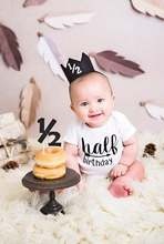 One half birthday rompers Half brithday shirt 1 2 Half Birthday one-piece Boy half birthday outfits Gender Neutral Baby Gift cheap O-Neck jiangkao Letter Short Pullover cotton+polyester My aunt loves me and awesome Fits true to size take your normal size