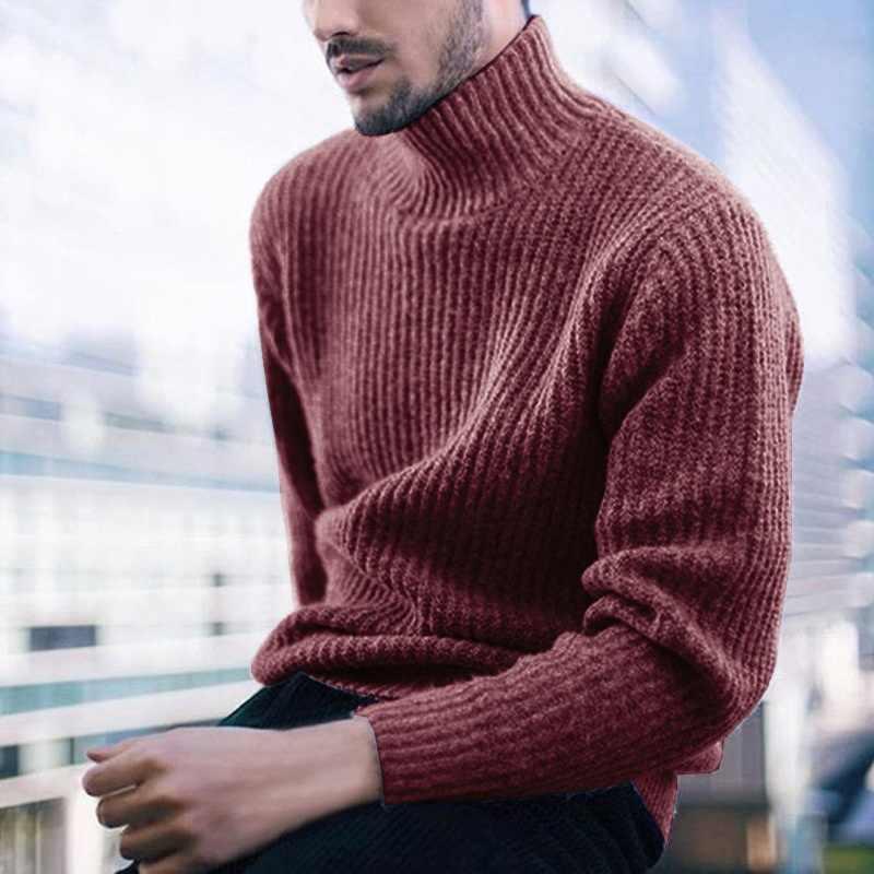 Zogaa 2019 겨울 남성 터틀넥 스웨터 남성 따뜻한 패션 솔리드 니트 남성 스웨터 캐주얼 남성 슬림 풀오버 탑 스웨터