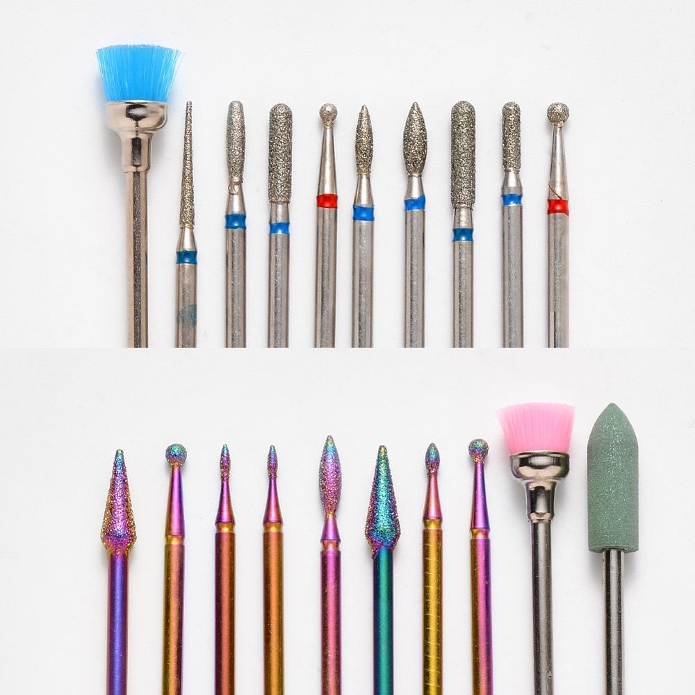 10 20 pecas de metal prego brocas manicure cabeca eletrica dispositivo substituicao para manicure pedicure polimento