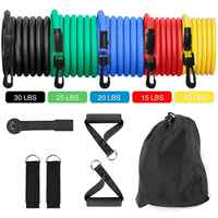 Fitness Resistance Bands - Resistance Band Handles Resistance Bands Workout, Exercise Resistance Band Set With Extra Door Anchor