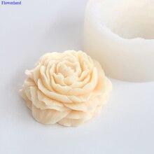 Новинка ручной работы мыло Плесень 3D большой цветок пиона силиконовые формы для ванной инструменты помадка форма для выпечки декоративные приборы DIY шоколадная форма