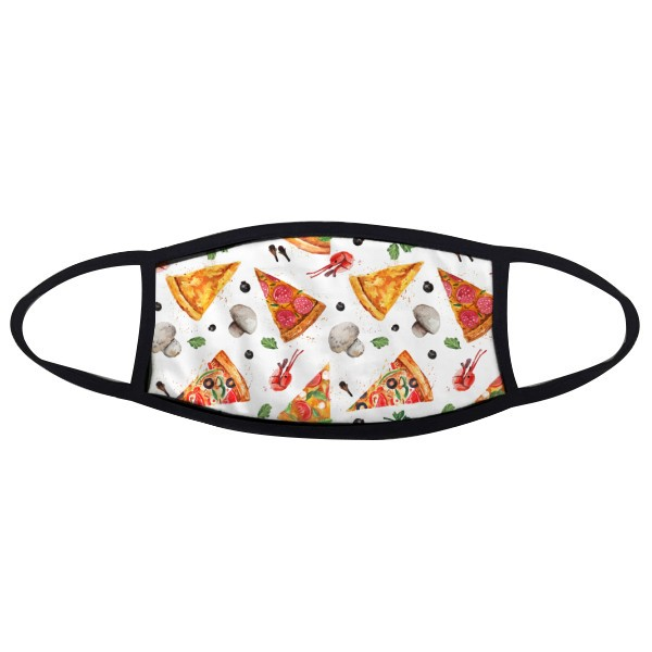 Delious Food Pizza Illustration Pattern Mouth Face Anti-dust Mask Anti Cold Warm Washable Cotton Gift