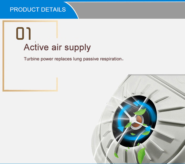 Smart Electric Face Mask Air Purifying Anti Dust Pollution Fresh Air Supply Filter Haze Silicone Seal Electric Fan Mask 3