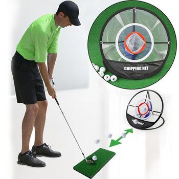 Indoor and outdoor golf practice set Portable Golf Tent Clubs Cage Aids Training Net Putter Golf Trainer Swing Tee Mat Z5S7
