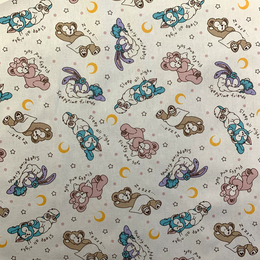 91x145cm Patchwork Canvas Fabric Japan Duffy Bear Fabric For Kids Bedding Home Textile For Sewing Tilda Doll Cutain Bag