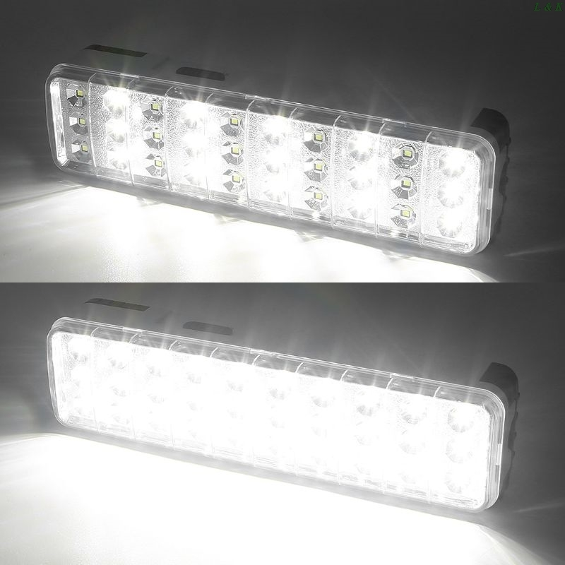 30LED Multi-function <font><b>Emergency</b></font> <font><b>Light</b></font> Rechargeable LED Safety Lamp 2 Mode For Home Camp Outdoor PXPC image