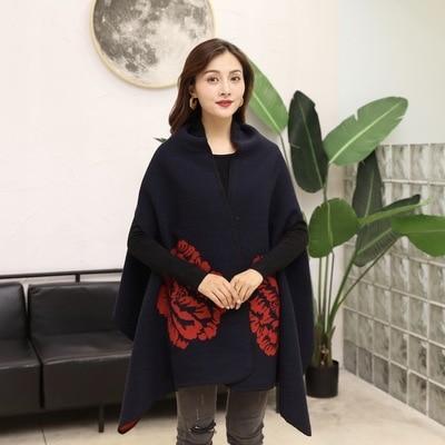 Новинка, роскошный брендовый женский зимний шарф, теплая шаль, женское Клетчатое одеяло, вязанное кашемировое пончо, накидки для женщин, echarpe - Цвет: style 9