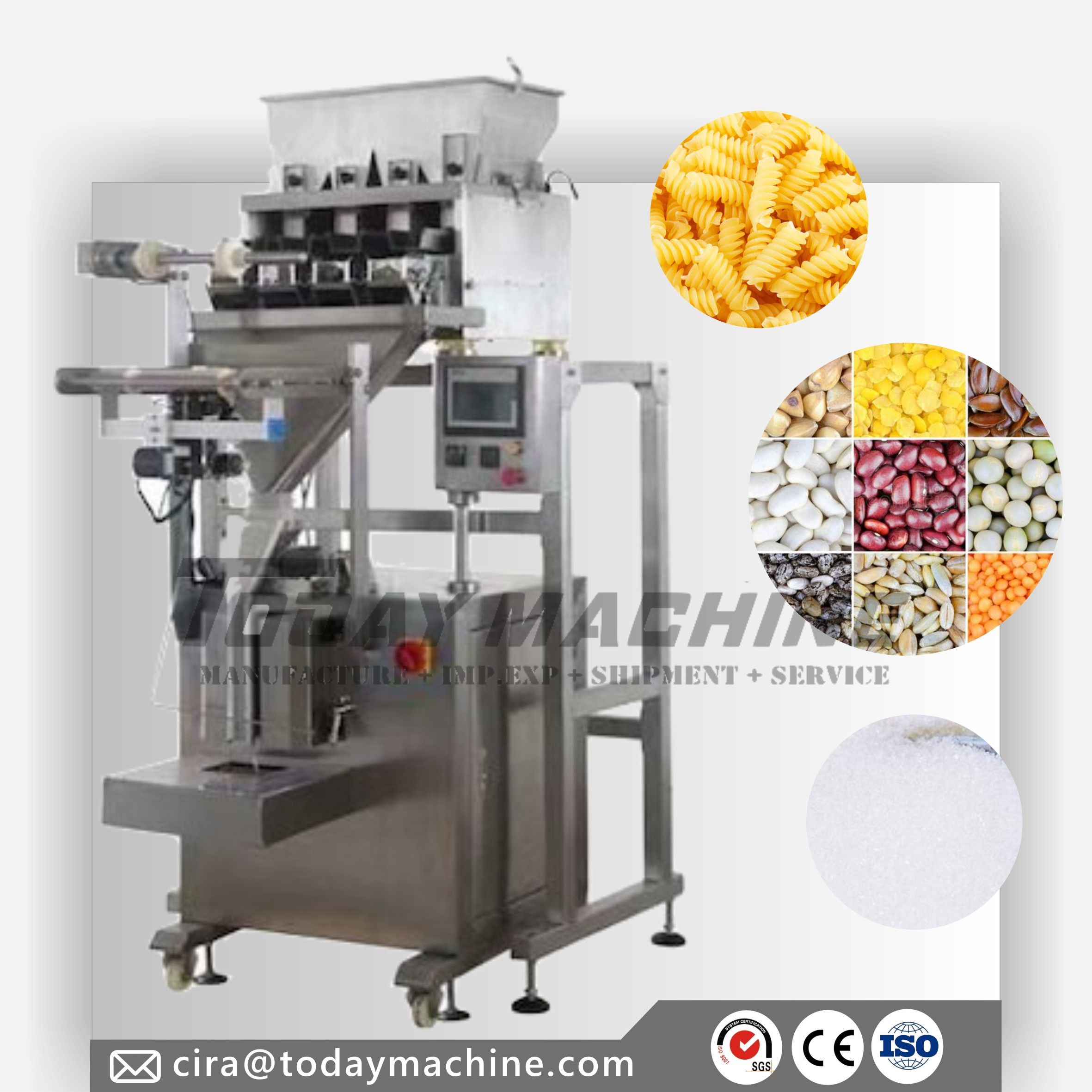 Multihead Weigher Packaging Machine Multi Function Snacksweigher