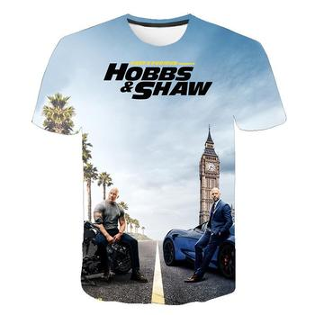 S-6XL 2020 3D Passion movie Fast amp Furious T-Shirt Motorcycle Hobbs And Shaw Shirt The Fate Of The Furious T-Shirt racing Top tanie i dobre opinie Krótki O-neck Suknem Na co dzień Drukuj