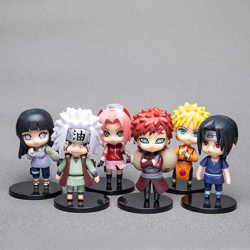 1pcs10cm Anime Naruto Figuur Toy Sasuke Kakashi Sakura Gaara Itachi Obito Madara Killer Bee Mini Model Pop Voor Kinderen