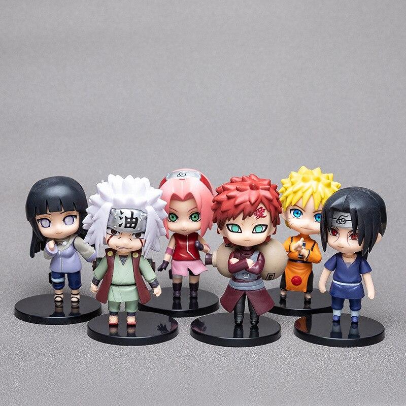 1pcs10cm Anime Naruto Figure Toy Sasuke Kakashi Sakura Gaara Itachi Obito Madara Killer Bee Mini Model Doll For Children