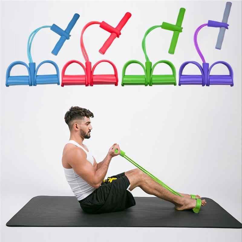 Bền Đạp Chân Kéo Dây Họa Tiết Tinh Tế 2 Ống Chống Ban Nhạc Đạp Chân Máy Tập Cơ Sit-up Kéo Dây Tập Yoga Thiết Bị