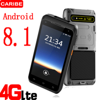 Caribe PL 55L Industrial Android PDA 1D Barcode Scanner FDD LTE 4G with 5.5 inch Touch Screen