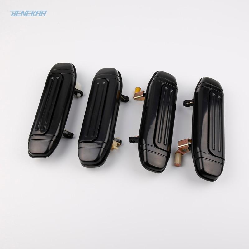 Черная передняя и задняя наружная дверная ручка Benekar для Mitsubishi Pajero Montero V31, V32, V33, V43, V46, V47
