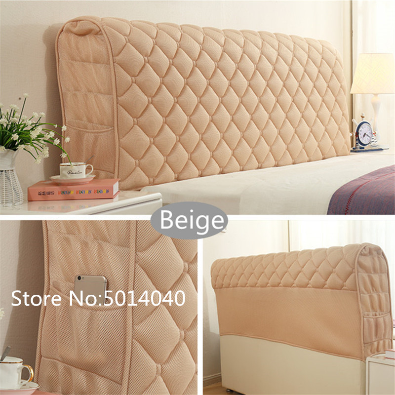 All-inclusive Headboard Cover European Fabric Solid Wood Bed Anti-collision Head Back Cover Dust Protection Cover 3cm Thick