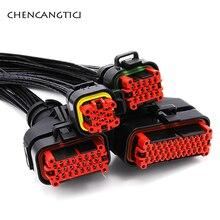 цена на 1set Tyco AMP 8/14/23/35 pin way Female Waterproof Automotive Ecu Connector EPEC 2024 ECU Plug 770680-1 with 18cm cable 776164-1