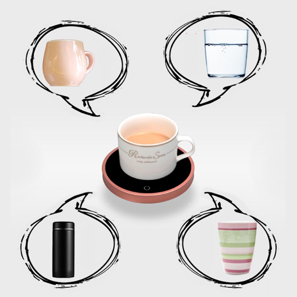 110/220 В электрическая чашка с питанием грелка грелки 220 В Горячая тарелка кофе чай молоко кружка США вилка белый бытовой офис
