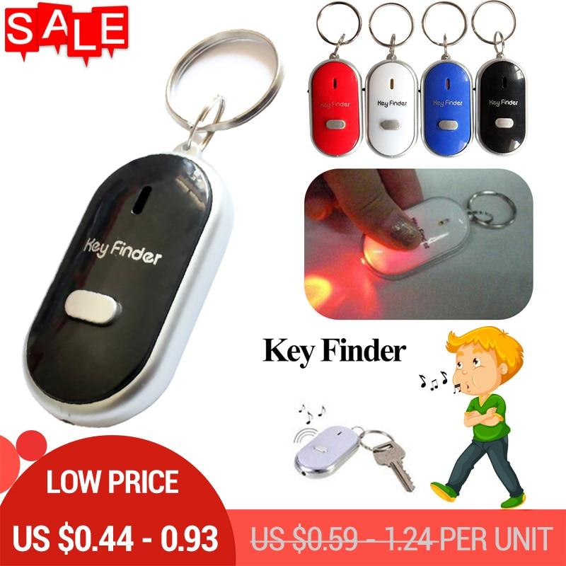 Mini Anti-lost Whistle Key Finder Flashing Beeping Remote Kids Key Bag Wallet Locators Child Alarm Reminder Drop Shipping