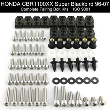 For Honda CBR1100XX 1997 1998 1999 2000 2001 2002 2003 2004 2005 2006 2007 Complete Full Fairing Bolts Kit Screw Stainless Steel complete fairing bolt nut screw kit for honda cbr600rr cbr 600 rr 2003 2006 2003 2004 2005 2006 fairing bolt screw accessories