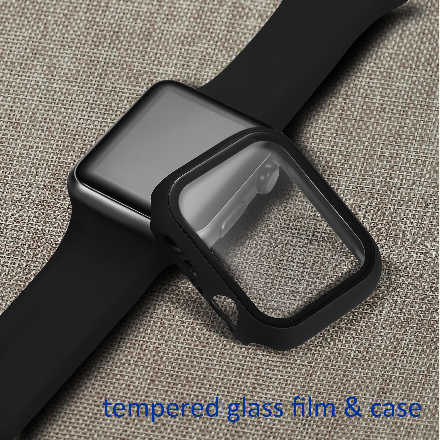 3D Screen Protector Case For <font><b>Apple</b></font> <font><b>Watch</b></font> 44mm 42mm 40mm 38mm Cover Tempered Glass Film Frame For iWatch Series 2 <font><b>3</b></font> 4 5 Case image